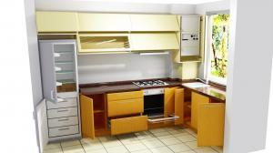 Proiect bucătărie mică la comandă Norvinia nr.581