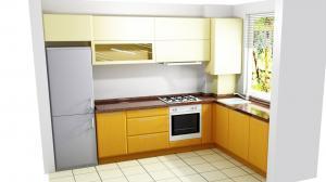 Proiect bucătărie mică la comandă Norvinia nr.580