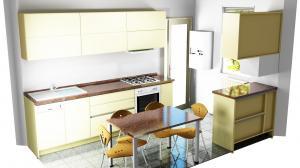 Proiect bucătărie mică la comandă Norvinia nr.592