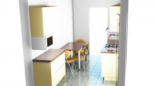 Proiect bucătărie mică la comandă Norvinia nr.593