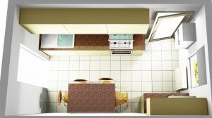 Proiect bucătărie mică la comandă Norvinia nr.595