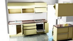 Proiect bucătărie mică la comandă Norvinia nr.591