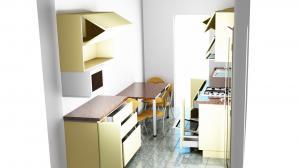 Proiect bucătărie mică la comandă Norvinia nr.594