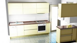 Proiect bucătărie mică la comandă Norvinia nr.590