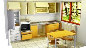 Proiect bucătărie la comandă Norvinia nr.611