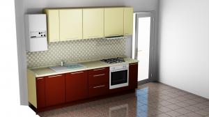 Proiect bucătărie mică la comandă Norvinia Nr.862
