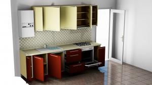 Proiect bucătărie mică la comandă Norvinia Nr.863