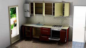 Proiect bucătărie mică la comandă Norvinia Nr.861