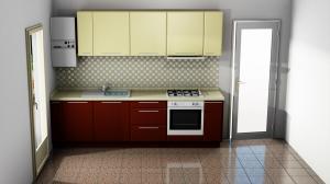 Proiect bucătărie mică la comandă Norvinia Nr.864