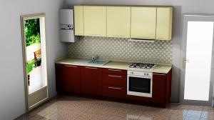 Proiect bucătărie mică la comandă Norvinia Nr.860