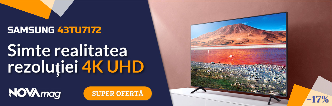 Televizor Samsung 43TU7172, 108 cm, Smart, 4K Ultra HD, LED