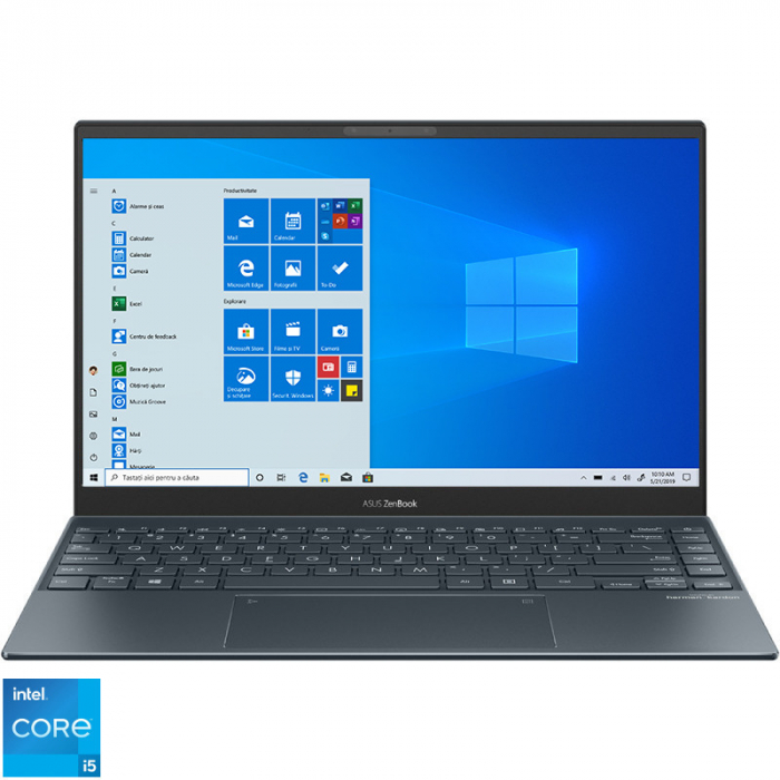 Ultrabook ASUS 13.3'' ZenBook 13 OLED UX325EA-KG271T, FHD, Procesor Intel® Core™ i5-1135G7 (8M Cache, up to 4.20 GHz), 16GB DDR4X, 512GB SSD, Intel Iris Xe, Win 10 Home, Pine Grey [0]