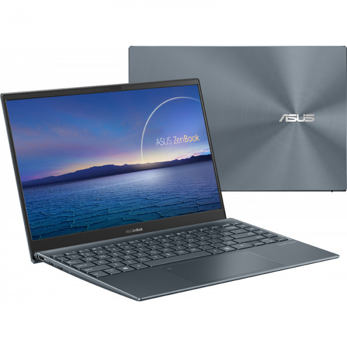 Ultrabook ASUS 13.3'' ZenBook 13 OLED UX325EA-KG271T, FHD, Procesor Intel® Core™ i5-1135G7 (8M Cache, up to 4.20 GHz), 16GB DDR4X, 512GB SSD, Intel Iris Xe, Win 10 Home, Pine Grey [6]