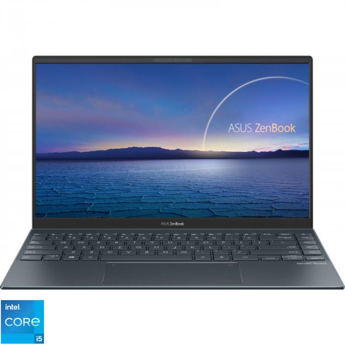 Ultrabook ASUS 14'' ZenBook 14 UX425EA-KI391T, FHD, Procesor Intel® Core™ i5-1135G7 (8M Cache, up to 4.20 GHz), 16GB DDR4X, 512GB SSD, Intel Iris Xe, Win 10 Home, Pine Grey [1]
