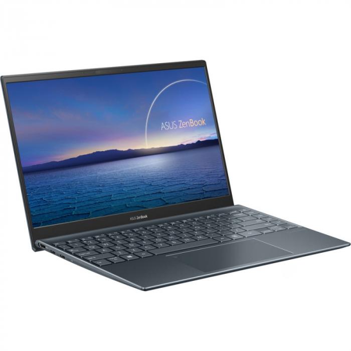Ultrabook ASUS 14'' ZenBook 14 UX425EA-KI391T, FHD, Procesor Intel® Core™ i5-1135G7 (8M Cache, up to 4.20 GHz), 16GB DDR4X, 512GB SSD, Intel Iris Xe, Win 10 Home, Pine Grey [3]