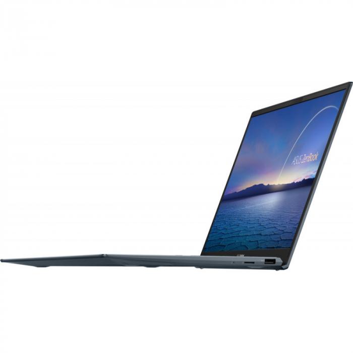 Ultrabook ASUS 14'' ZenBook 14 UX425EA-KI391T, FHD, Procesor Intel® Core™ i5-1135G7 (8M Cache, up to 4.20 GHz), 16GB DDR4X, 512GB SSD, Intel Iris Xe, Win 10 Home, Pine Grey [5]