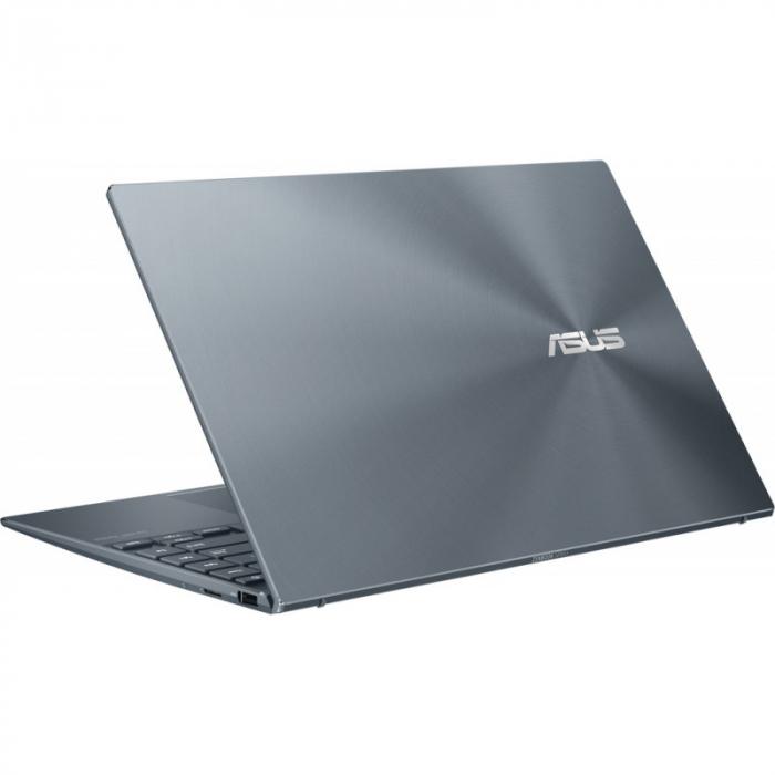 Ultrabook ASUS 14'' ZenBook 14 UX425EA-KI391T, FHD, Procesor Intel® Core™ i5-1135G7 (8M Cache, up to 4.20 GHz), 16GB DDR4X, 512GB SSD, Intel Iris Xe, Win 10 Home, Pine Grey [9]