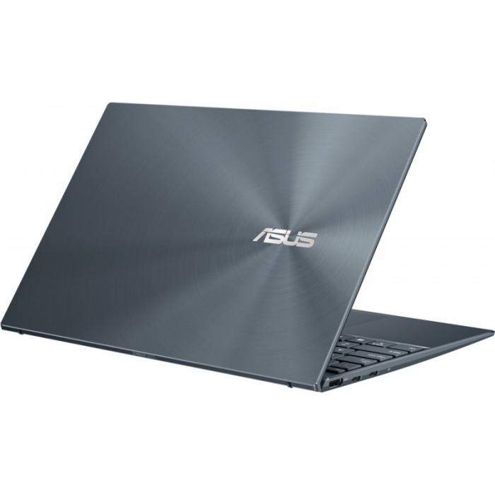 Ultrabook ASUS 14'' ZenBook 14 UX425EA-KI391T, FHD, Procesor Intel® Core™ i5-1135G7 (8M Cache, up to 4.20 GHz), 16GB DDR4X, 512GB SSD, Intel Iris Xe, Win 10 Home, Pine Grey [8]