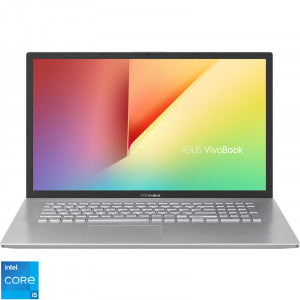 Laptop ASUS 17.3'' VivoBook 17 X712EA, HD+, Procesor Intel® Core™ i5-1135G7 (8M Cache, up to 4.20 GHz), 8GB DDR4, 512GB SSD, Intel Iris Xe, No OS, Transparent Silver [0]