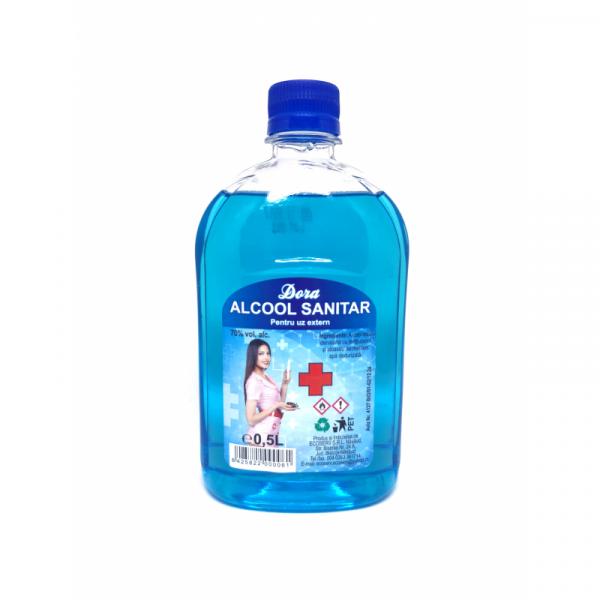 Alcool sanitar DORA 70% 500ml (ECOSERV01) 0