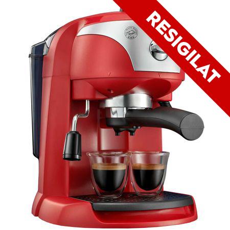 Resigilat - Espressor manual De'Longhi EC221.R, Dispozitiv spumare, Sistem cappuccino, 15 Bar, 1 l, Oprire automata, Rosu 0