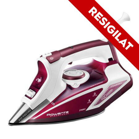 Resigilat - Fier de calcat Rowenta Steam Force DW9230, Talpa Microsteam 400, 2750 W, 220 g/min, Alb/Rosu 0