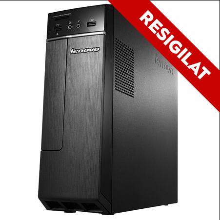 Resigilat - Sistem Desktop PC Lenovo IdeaCentre 300S-11IBR cu procesor Intel® Celeron® Quad Core™ J3160 1.60GHz, Braswell™, 4GB, 1TB, DVD-ROM, Intel® HD Graphics, Free DOS, Mouse + Tastatura, Negru 0