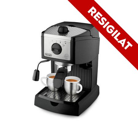 Resigilat -Espressor manual DeLonghi EC 156.B, Negru, Mecanic, 1100 W, 1-2 cesti, Negru 0
