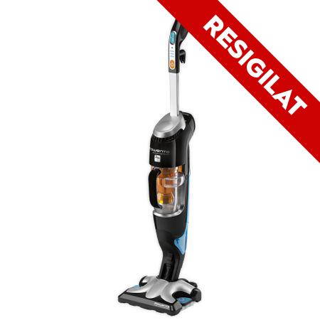 Resigilat- Aparat de curatat cu abur Rowenta Clean & Steam RY7535WH, 1700 W, 0.7 l, Incalzire 30 s, Recipient praf 0.3 l, Negru/Argintiu 0