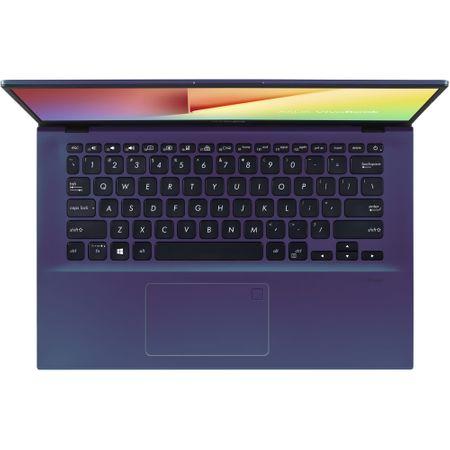 "Laptop ASUS VivoBook 14 X412FL-EK236 cu procesor Intel® Core™ i3-8145U pana la 3.90 GHz Whiskey Lake, 14"", Full HD, 4GB, 256GB SSD, NVIDIA GeForce MX250 2GB, Free DOS, Peacock Blue 3"