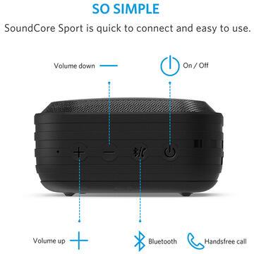 Boxa portabila Anker SoundCore Sport, bluetooth, negru 4