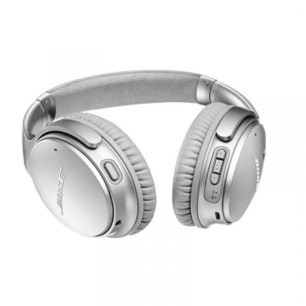 Casti wireless cu anularea zgomotului Bose Quiet Comfort 35 II, Silver, 789564-0020 0