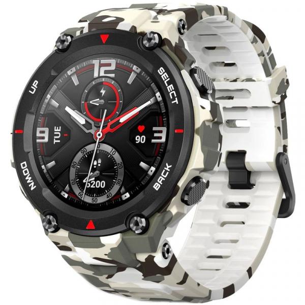 Ceas smartwatch Amazfit T-Rex, Camo Green [0]