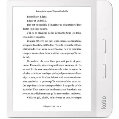 "eBook Reader Kobo Libra H2O, 7"", 8GB, Wi-Fi, White 0"