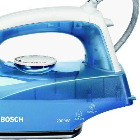 Fier de calcat Bosch TDA2610 Sensixx B, Talpa Palladium-Glissee, 2100 W, 30 g/min, 1.9 m, Alb/Albastru 4