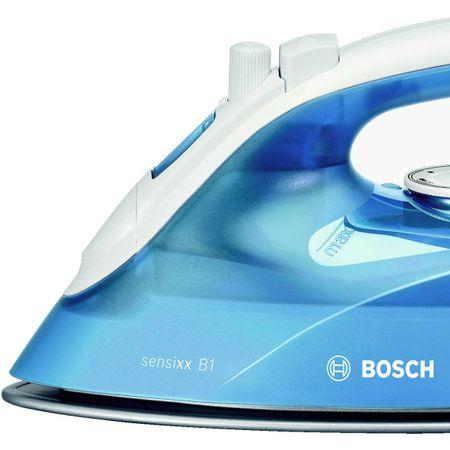 Fier de calcat Bosch TDA2610 Sensixx B, Talpa Palladium-Glissee, 2100 W, 30 g/min, 1.9 m, Alb/Albastru 3