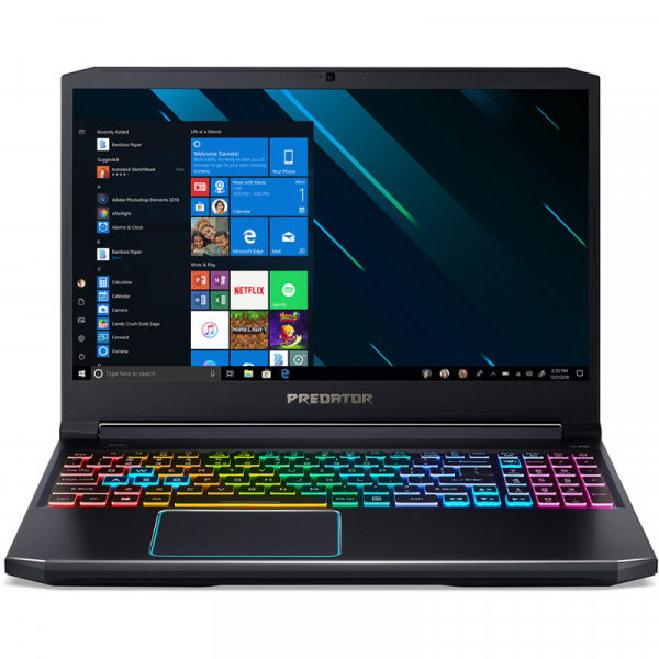 Notebook / Laptop Acer Gaming 15.6'' Predator Helios 300 (NH.Q54EX.01E) PH315-52, FHD IPS 144Hz, Procesor Intel® Core™ i7-9750H (12M Cache, up to 4.50 GHz), 32GB DDR4, 1TB SSD, GeForce RTX 2060 6GB, W 1