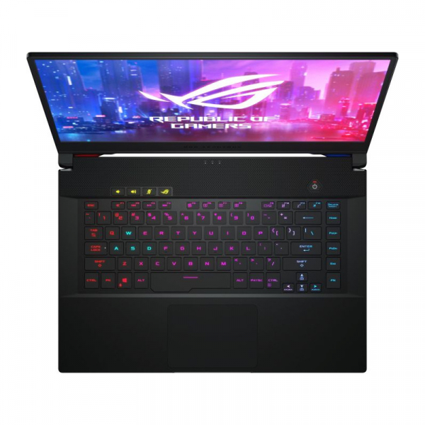 Laptop ASUS ROG Zephyrus S GX502GW-AZ130T, Intel Core i7-9750H, 15.6inch, RAM 16GB, SSD 512GB, nVidia GeForce RTX 2070 8GB, Windows 10, Black 1