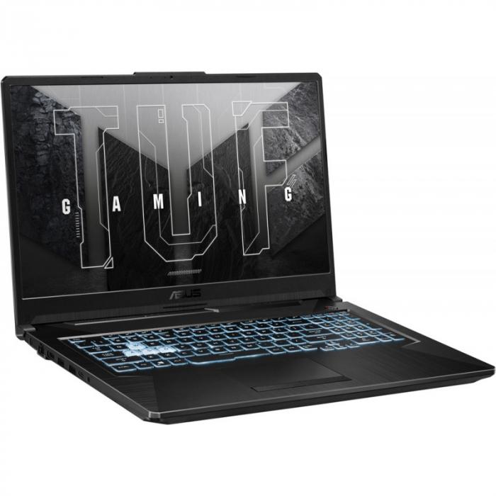 Laptop ASUS Gaming 17.3'' TUF F17 FX706HCB-HX145, FHD 144Hz, Procesor Intel® Core™ i5-11400H (12M Cache, up to 4.50 GHz), 8GB DDR4, 512GB SSD, GeForce RTX 3050 4GB, No OS, Graphite Black [4]