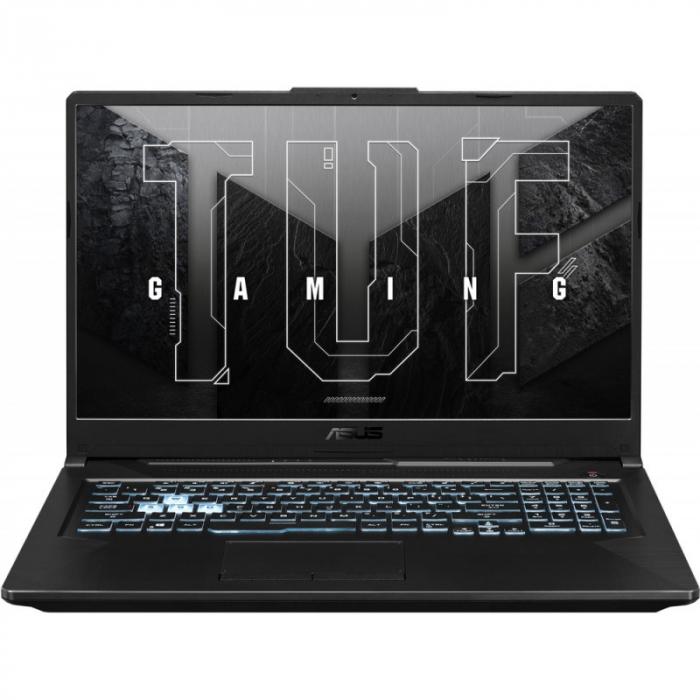 Laptop ASUS Gaming 17.3'' TUF F17 FX706HCB-HX145, FHD 144Hz, Procesor Intel® Core™ i5-11400H (12M Cache, up to 4.50 GHz), 8GB DDR4, 512GB SSD, GeForce RTX 3050 4GB, No OS, Graphite Black [1]