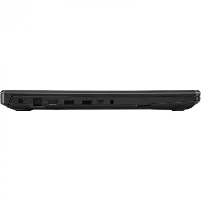Laptop ASUS Gaming 17.3'' TUF F17 FX706HCB-HX145, FHD 144Hz, Procesor Intel® Core™ i5-11400H (12M Cache, up to 4.50 GHz), 8GB DDR4, 512GB SSD, GeForce RTX 3050 4GB, No OS, Graphite Black [9]