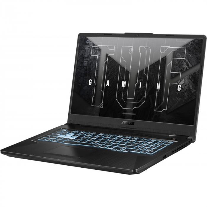 Laptop ASUS Gaming 17.3'' TUF F17 FX706HCB-HX145, FHD 144Hz, Procesor Intel® Core™ i5-11400H (12M Cache, up to 4.50 GHz), 8GB DDR4, 512GB SSD, GeForce RTX 3050 4GB, No OS, Graphite Black [5]