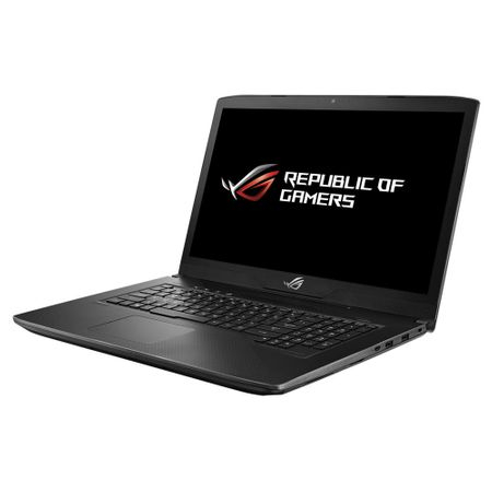 "Laptop Gaming ASUS ROG GL703GE-GC007 cu procesor Intel® Core™ i7-8750H pana la 4.10 GHz, Coffee Lake, 17.3"", Full HD, 8GB, 1TB + 128GB M.2 SSD, NVIDIA GeForce GTX 1050 Ti 4GB, Free DOS, Black"