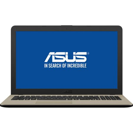 "Laptop ASUS X540MA-GO207 cu procesor Intel® Celeron® N4000 pana la 2.60 GHz, 15.6"", 4GB, 500GB, Intel® UHD Graphics 600, Endless OS, Chocolate Black 0"