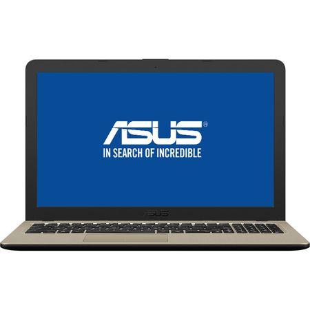 "Laptop ASUS X540UB-DM722 cu procesor Intel® Core™ i3-7020U 2.30 GHz, Kaby Lake, 15.6"", Full HD, 4GB, 1TB, NVIDIA GeForce MX110 2GB, Endless OS, Chocolate Black, No ODD 0"