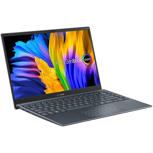 "Laptop ASUS ZenBook 13 UM325UA-KG020T, AMD Ryzen 5 5500U pana la 4GHz, 13.3"" Full HD, 8GB, SSD 512GB, AMD Radeon RX Vega 7, Windows 10 Home, gri 3"
