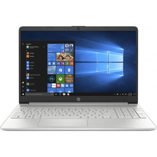 Laptop HP 15-DY1091WM, 15.6'', HD, Intel® Core™ i3-1005G1 (4M Cache, up to 3.40 GHz), 8GB DDR4, 256GB SSD, Intel UHD, Windows 10, Silver, 1F8Z8UA 1