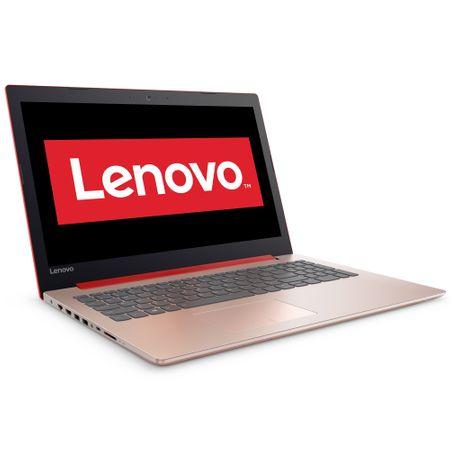 """Laptop Lenovo IdeaPad 320-15AST cu procesor A6-9220 2.50 GHz, 15.6"""", 4GB, 500GB, DVD-RW, AMD Radeon™ R5, Free DOS, Coral Red"""
