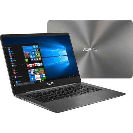"Laptop ultraportabil ASUS ZenBook UX430UA-GV340R cu procesor Intel® Core™ i5-8250U pana la 3.40 GHz, Kaby Lake R, 14"", Full HD, 8GB, 256GB SSD, Intel® UHD Graphics 620, Microsoft Windows 10 Pro, Grey"