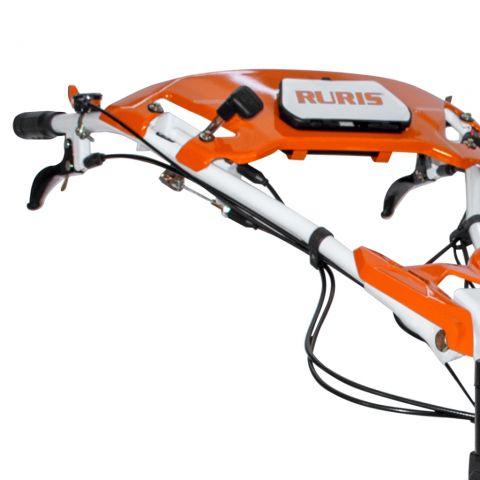 Motosapatoare RURIS 732ACC + roti cauciuc 5.00-8+rarita+plug+adaptor+dispozitiv scos cartofi+roti metalice 400 fara manicot+cultivator, 7322021acc 5